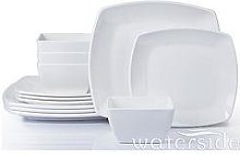 Waterside 12-Piece Square Melamine Dinner Set
