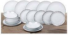 Waterside 24-Piece Silver Sparkle Dinner Set