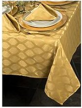 Waterside 9 Piece Gold Geo Christmas Table Linen