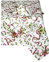 Waterside 9 Piece Holly Christmas Table Linen Set