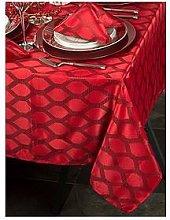 Waterside 9 Piece Red Geo Table Linen Set