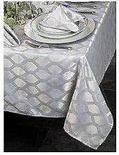 Waterside 9 Piece Silver Geo Table Linen Set