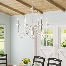 Watford 6-Light Candle Style Chandelier Blue