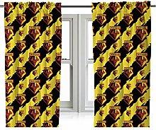 Watford FC Watford Rotary Curtain Set 54 Inch Drop