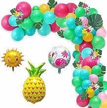 WATINC 111Pcs Hawaiian Party Decorations Tropical