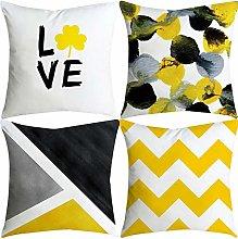Watopi 4 Pack Mustard Geometric Cushion Covers