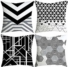 Watopi 4 Pcs/Set Soft Black White Pillowcase