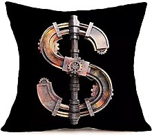 Watopi Black Gold Copper Pillowcase, Metal