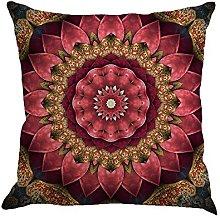 Watopi Boho Cushion Cover, Geometry Painting Linen