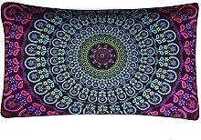 Watopi Cushion Cover Indian Mandala Soft Pillow