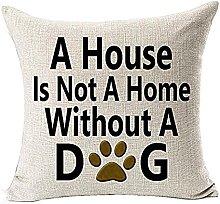 Watopi Dog Lover Cushion Cover Cotton Linen 45cm
