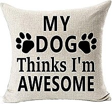 Watopi Dog Lover Cushion Cover Cotton Linen 45cm