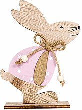 Watopi Easter Bunny Wooden Rabbits with Bow Tie