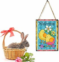Watopi Easter Decor Welcome Sign Door Plaque