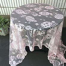 Watopi Easter White Lace Tablecloths for Home