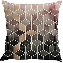 Watopi Geometric Cushion Cover, Black Gold