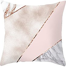Watopi Geometric Pillow Case,Gold Foil Cushion