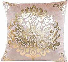 Watopi Gold Foil Velvet Printing Cushion Cover,