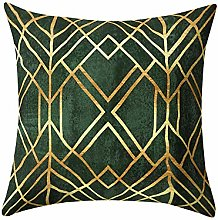 Watopi Green Gold Foil Printing Cushion Cover,
