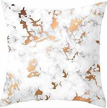 Watopi Grey Geometric Marble Pillow Case Stripes