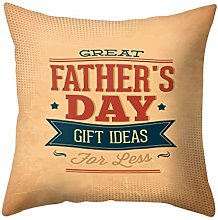 Watopi Happy Father's Day Soft Flax Square