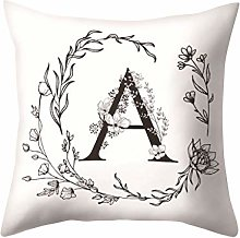 Watopi Letters Pattern Pillow Case Sofa Car