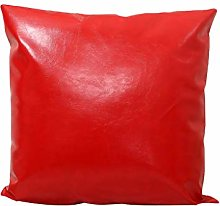 Watopi Modern Faux Leather Cushion Cover Red