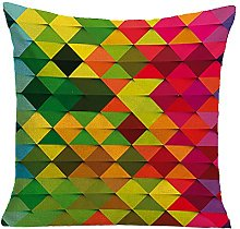 Watopi Mosaic Cushion Cover Linen Blend Geometric