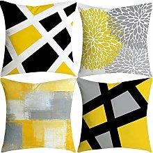 Watopi Mustard Geometric Cushion Covers Super Soft