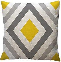 Watopi Mustard Geometric Pattern Cushion Cover,