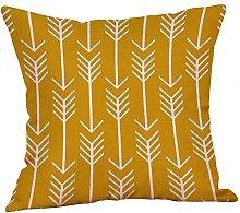 Watopi Mustard Geometric Pillowcase Modern Yellow