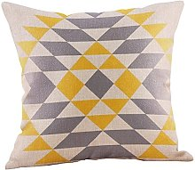Watopi Mustard Lines Cushion Cover, Geometric