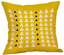 Watopi Mustard Lines Cushion Cover, Geometric