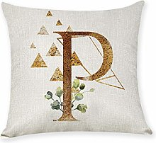 Watopi Noble Letter Printed Cushion Cover