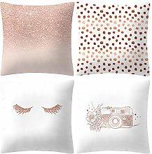 Watopi Pale Rose Pink Pillowcase, Set of 4 Gold