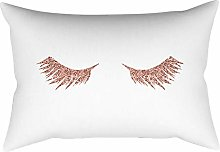 Watopi Pink Gold Throw Cushion Cover Gold Foil