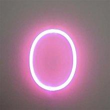Watopi Pink Light Up Digitals Neon Signs, Bright