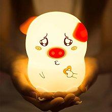 Watopi Portable Night Light Pigs, Remote Control,