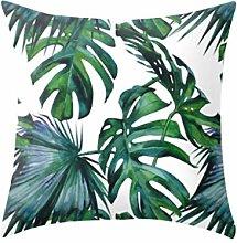 Watopi Rainforest Leaf Geometric Painting Cover,