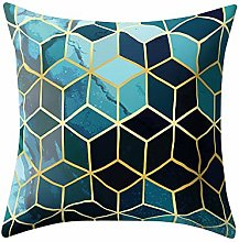 Watopi Rose Gold Foil Pillowcase,Marble Geometric