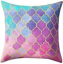 Watopi Rose Gold Foil Pillowcase,Marble Geometric