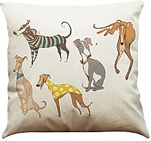 Watopi Sausage Dog Cushion Cover, Vintage, Cotton