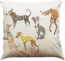 Watopi Sausage Dog Cushion Cover, Vintage, Cotton