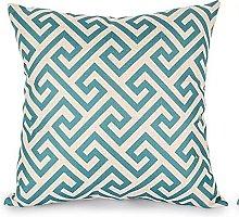 Watopi Simple Design Geometric Pillow Case Zig Zag