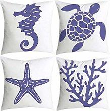 Watopi Simple Pillowcase Cute Marine Animals