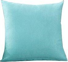 Watopi Simple Soild Light Blue Cushion Covers