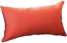 Watopi Soft Rectangle Pillowcase Orange Comfy Flax
