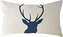 Watopi Soft Simple Nordic Rectangle Cushion Cover