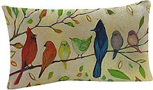 Watopi Soft Summer Trees Cushion Cover Green Linen
