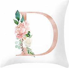 Watopi Super Soft Pillowcase, Alphabet Letter